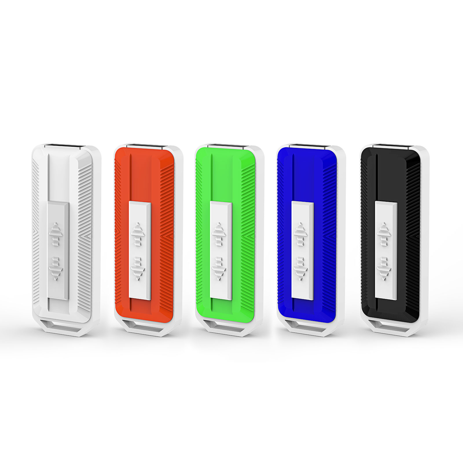 KOOTION 5PCS 8GB USB 2.0 Flash Drives Thumb Drives Memory Stick Side Sliding Retractable USB Drives,  Black, Blue, Red, Green, White