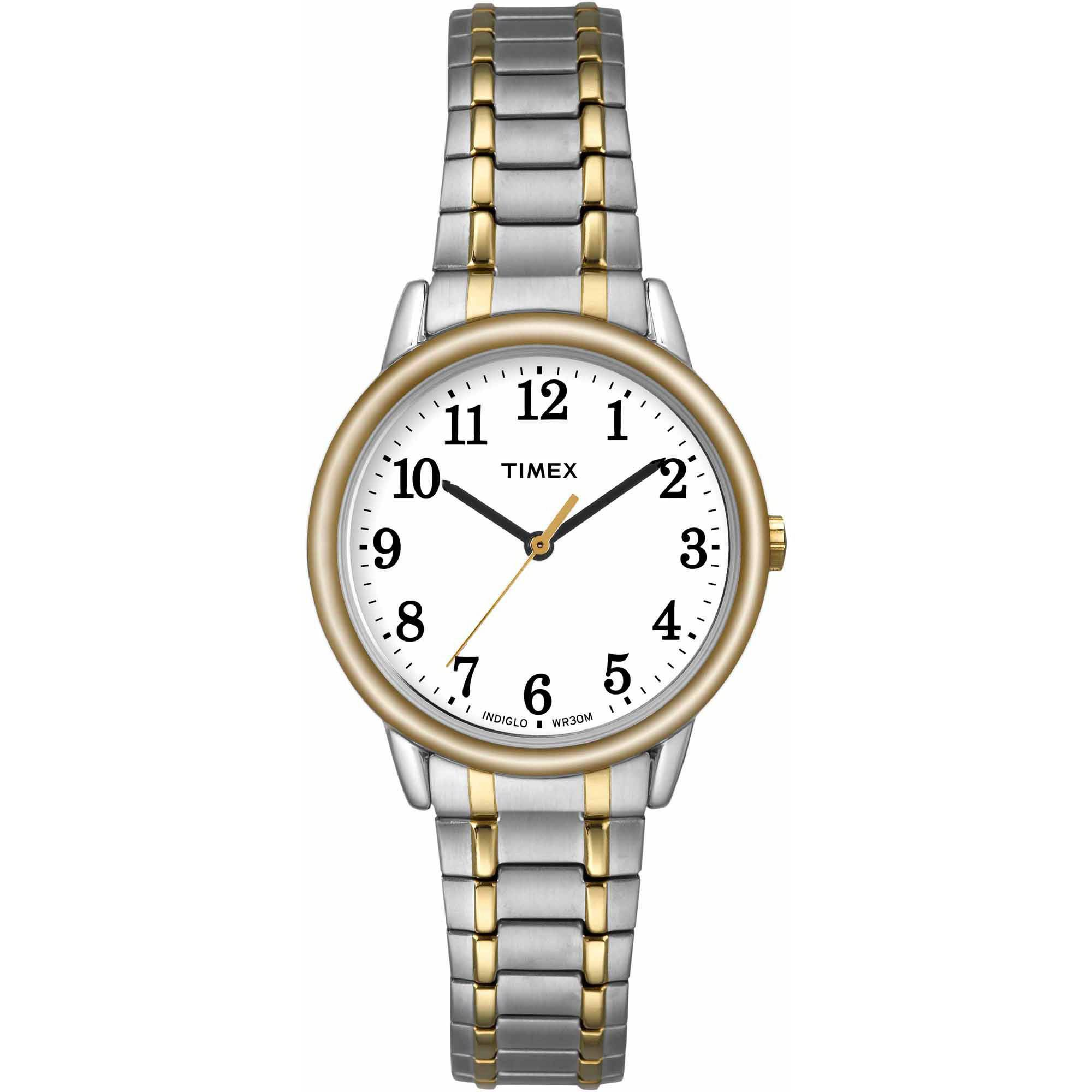 Timex Women's Easy Reader Watch, Two-Tone Stainless Steel Expansion Band by Timex
