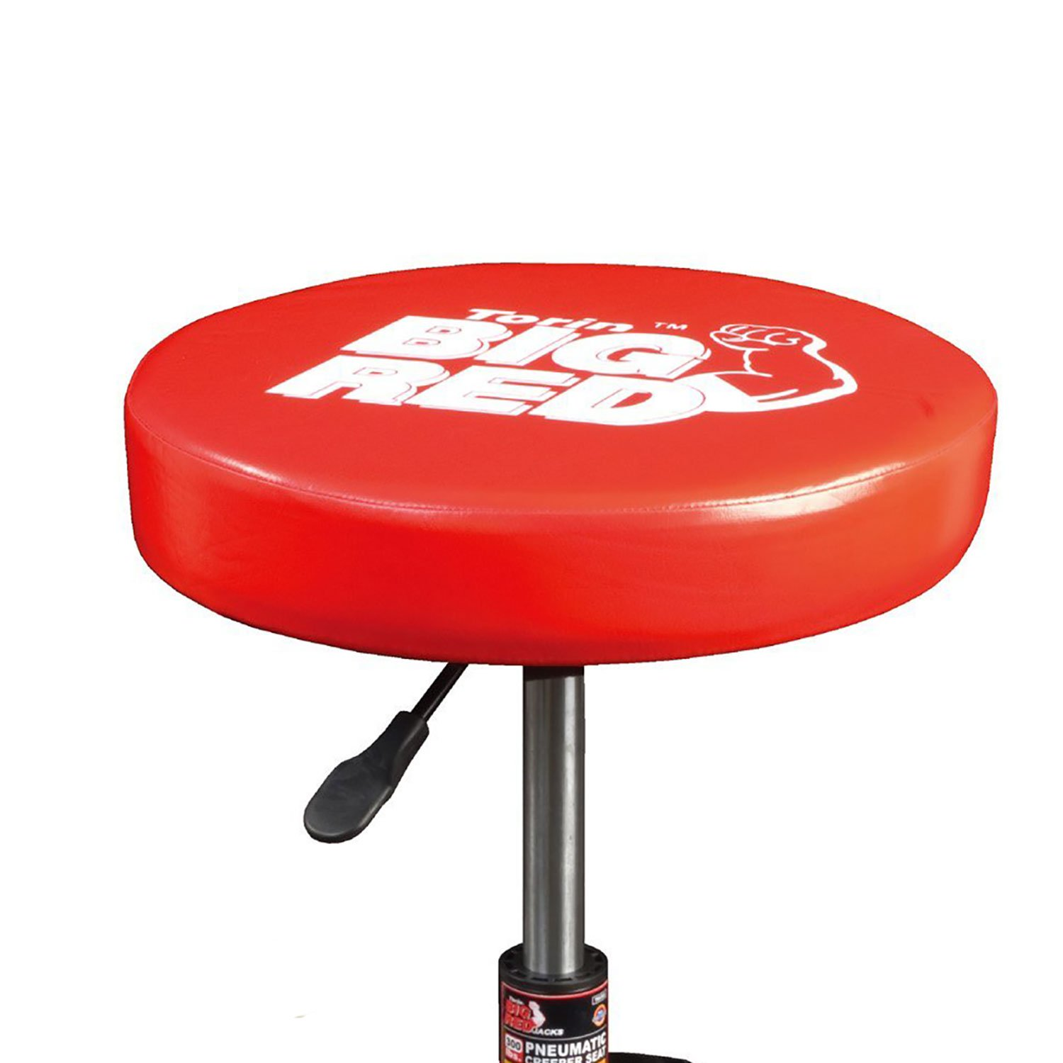 Torin Steel Rolling Padded Vinyl Creeper Mechanic Garage Workshop Workbench Stool with Integrated Tool Tray