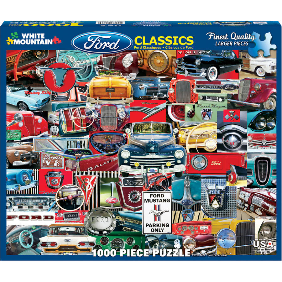 "Classic Fords Jigsaw Puzzle, 1000-pieces, 24"" x 30"""