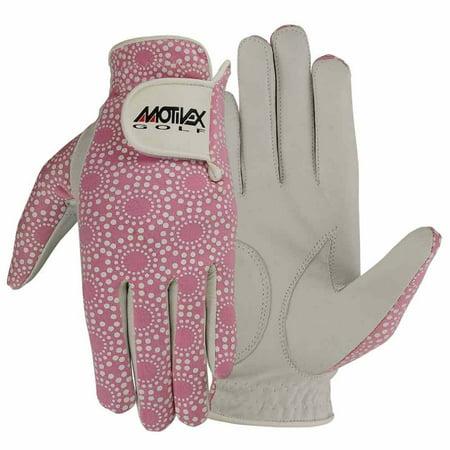 Women Golf Gloves Soft Fit Cabretta Leather Lycra Back Pink Ladies Glove Left Hand S (Pink Body Glove)