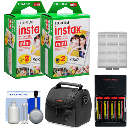 Essentials Bundle Compatible with Polaroid PIC300 Series Instant Film Analog Cameras with 40 Instant Film Prints + AA Batteries & Charger + Case + Kit