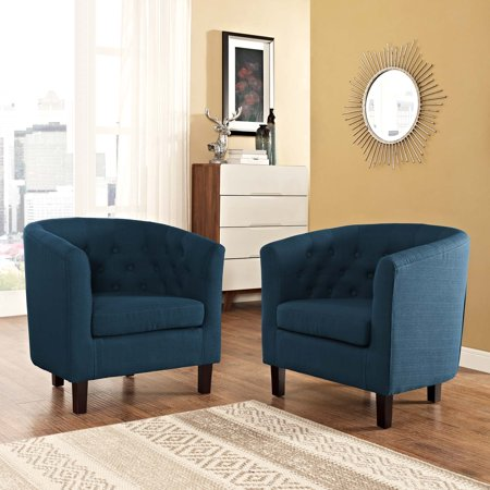 Modway Prospect 2 Piece Upholstered Fabric Armchair Set, Multiple Colors ()