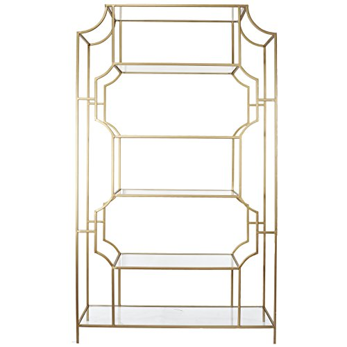 A&B Home KIF39738 Kathy Ireland Glass & Metal Etagere by A&B HOME