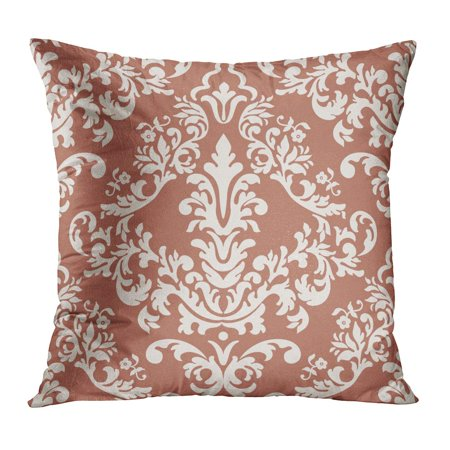 ECCOT Antique Damask Classical Luxury Old Fashioned Royal Victorian for Exquisite Floral Baroque Botany Carpet Pillow Case Pillow Cover 20x20 inch