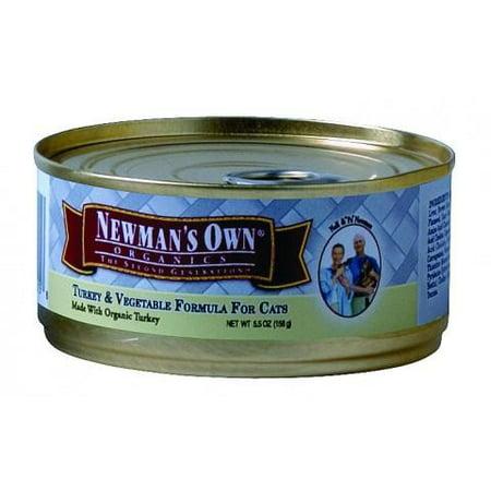 Newman's Own Organics Turkey & Vegetable Formula Wet Cat Food, 5.5 Oz, 24 (Best Organic Wet Cat Food)