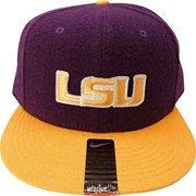 Nike NCAA LSU Tigers Wool/Rayon Purple/Gold Fitted Cap Hat