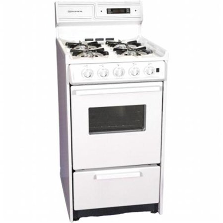 "Summit 20"" Deluxe Gas Range with Electronic Ignition - White"