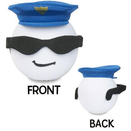 Coolballs Cool Cop Police Man Car Antenna Topper / Car Mirror Dangler