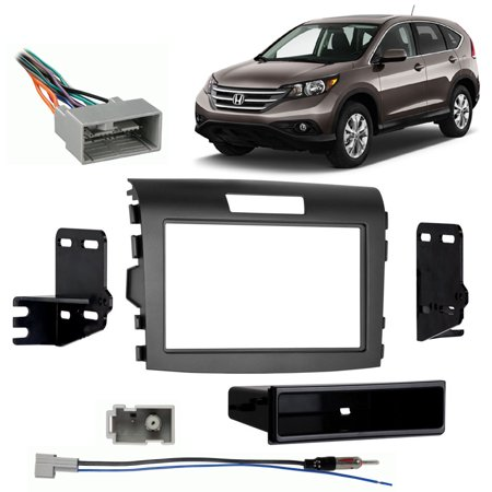 Fits Honda CRV 2012-2014 Single DIN Aftermarket Harness Radio Install Dash (2007 Honda Crv Radio Wire Harness Color Codes)