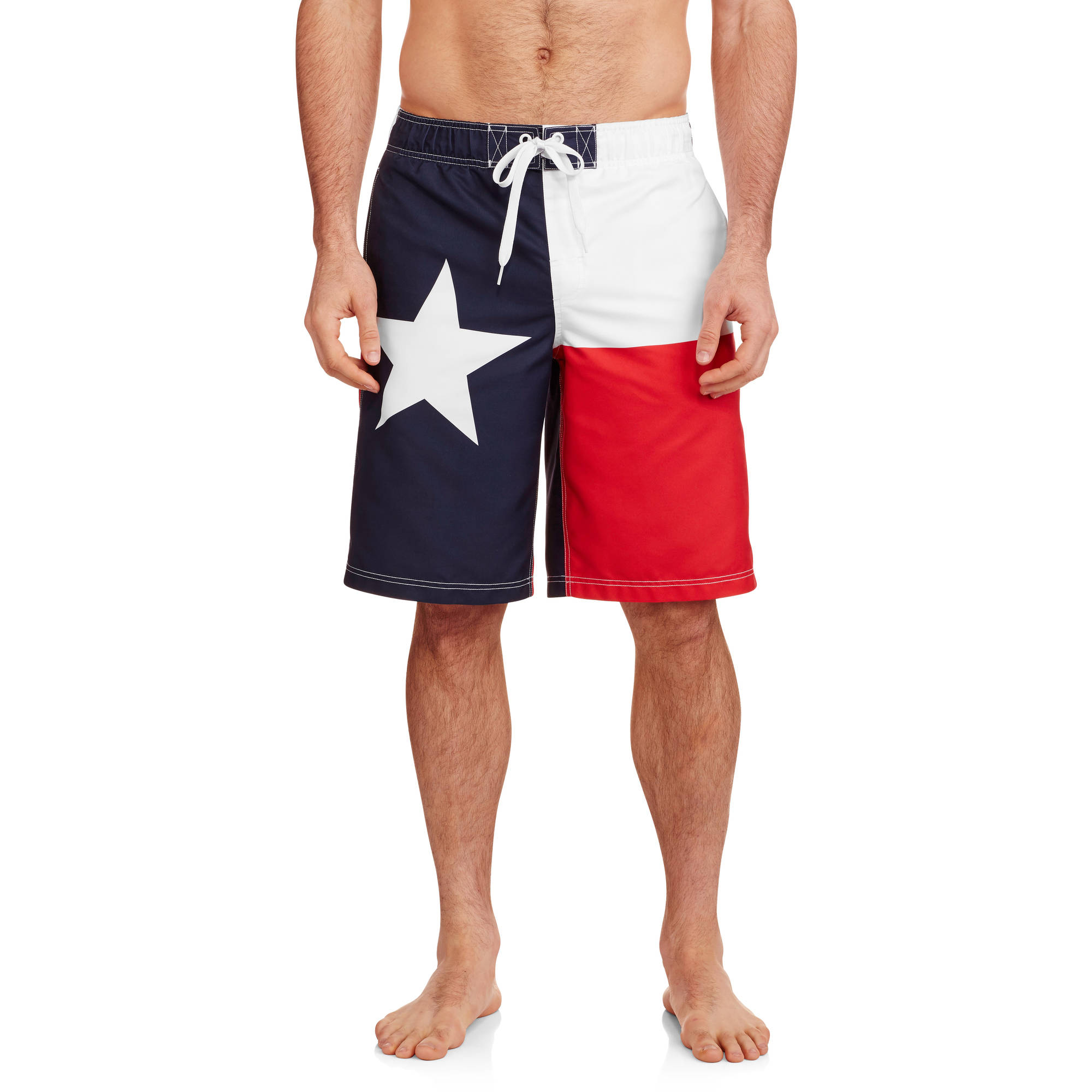 Faded Glory Texas Flag Printed Men's Swim Trunk