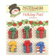 Holiday Fun Buttons-Christmas Presents