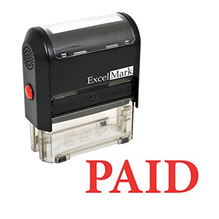 ExcelMark PAID Self-Inking Rubber Stamp - (A1539-Red