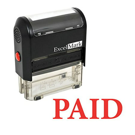 - ExcelMark PAID Self-Inking Rubber Stamp - (A1539-Red Ink)