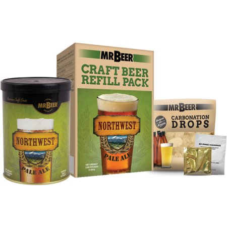 British Pale Ale Malt - Mr. Beer Northwest Pale Ale Craft Beer Refill Kit, Contains Hopped Malt Extract Designed for Consistent, Simple and Efficient Homebrewing