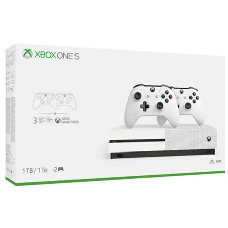 Microsoft Xbox One S 1TB with Two Controller Bundle,