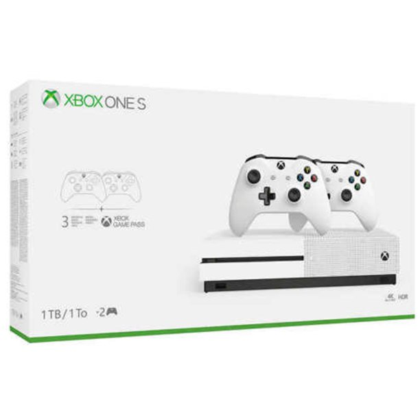 Microsoft Xbox One S 1tb With Two Controller Bundle White Walmart Com Walmart Com