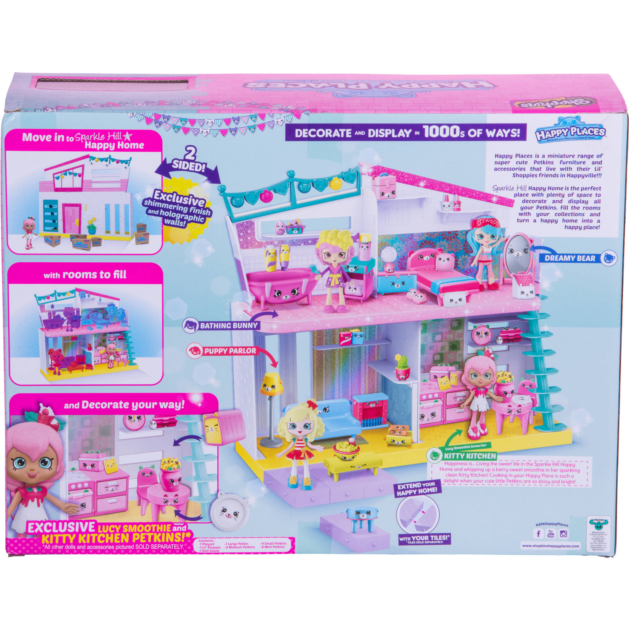Shopkins Happy Places Sparkle Hill Happy Home Dollhouses
