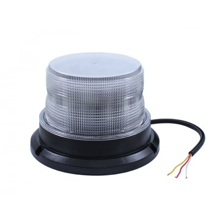 High Visibility Led Flasher (Amber High Power 12 LED Strobe Safety Warning Flasher Beacon Light / Clear)
