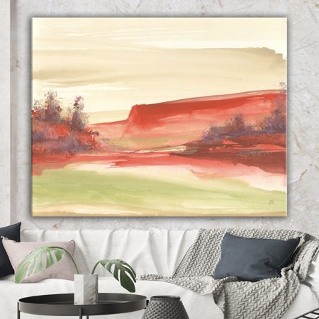 Traditional Rock (DESIGN ART Designart 'Red Rock III' Traditional Canvas Art - Red )