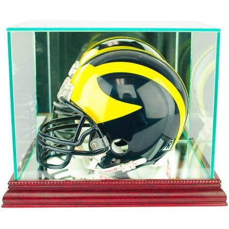 Perfect Cases Mini Football Helmet Display Case, Cherry Finish