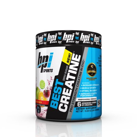 BPI Sports Best Creatine Powder, Fruit Punch, 50 (Best Liquid To Take Creatine With)