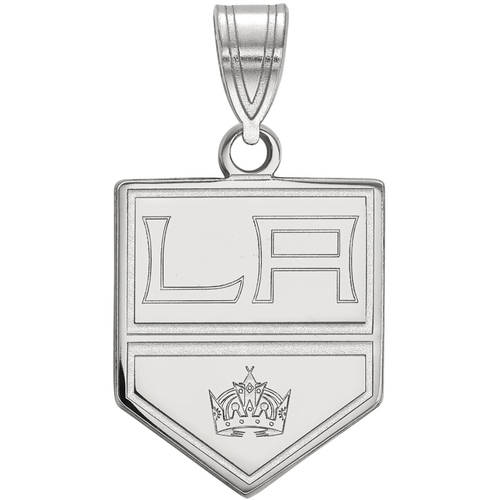 LogoArt NHL Los Angeles Kings Sterling Silver Medium Pendant