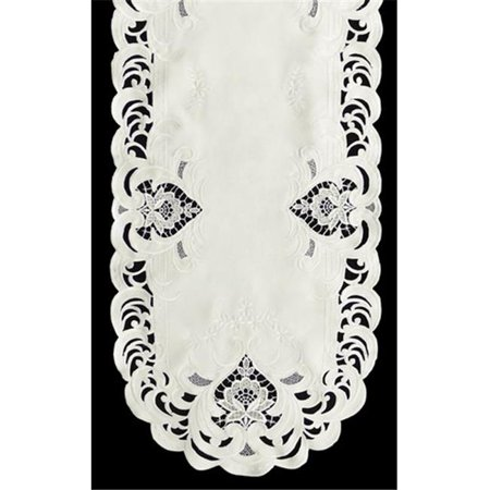 Sinobrite H7889-1 Ivory Elegance Oval Placemat, 12 x 18