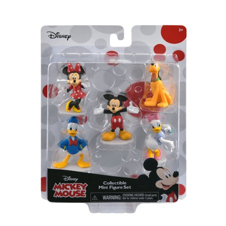 Mickey Mouse and Friends Collectible Mini Figurine 5Pc Set](Mickey Mouse Birthday Cake Decorations)