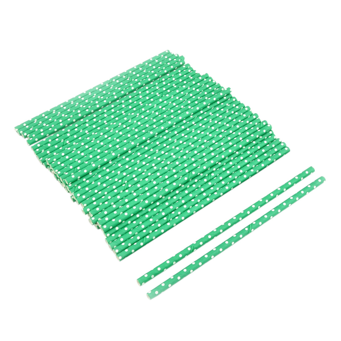 Party Paper Dot Print Juice Water Soda Drinking Straws 50ct