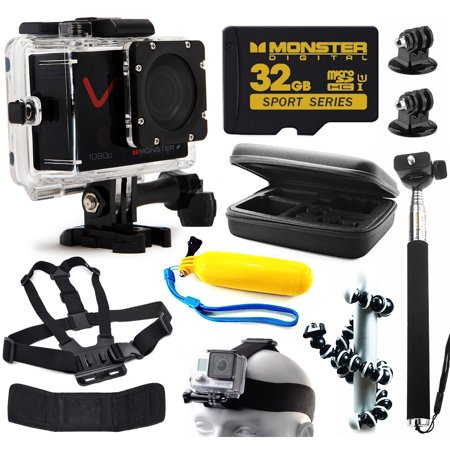 monster digital villain 1080p ultra hd action sports waterproof wifi camera with lcd includes. Black Bedroom Furniture Sets. Home Design Ideas