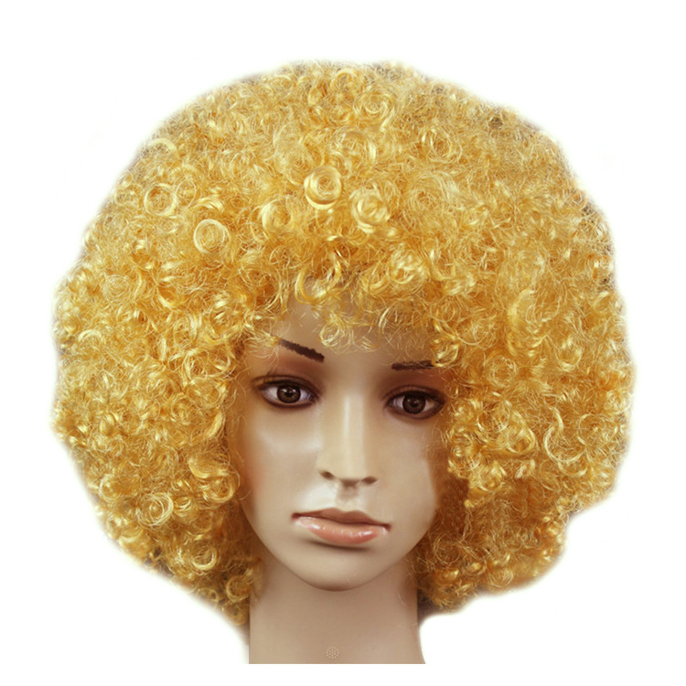 Unisex Afro Short Wig Curly Multicolour Halloween Hair Accessory