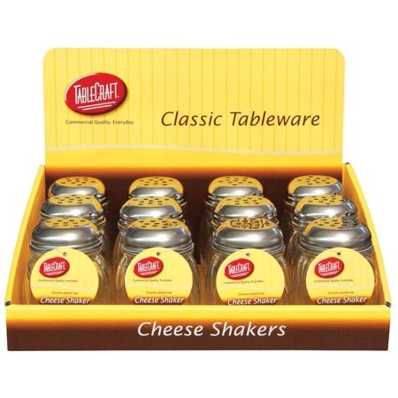 Tablecraft Cheese/Spice Shaker Glass/Steel Clear 6 oz.