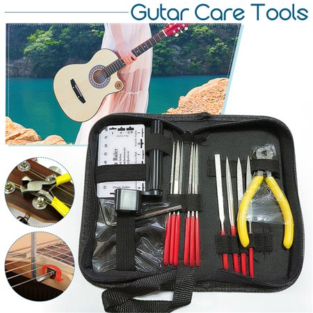 Guitar Care Tool Repairing  Maintenance Cleaning Kit Set For Electric Bass ()