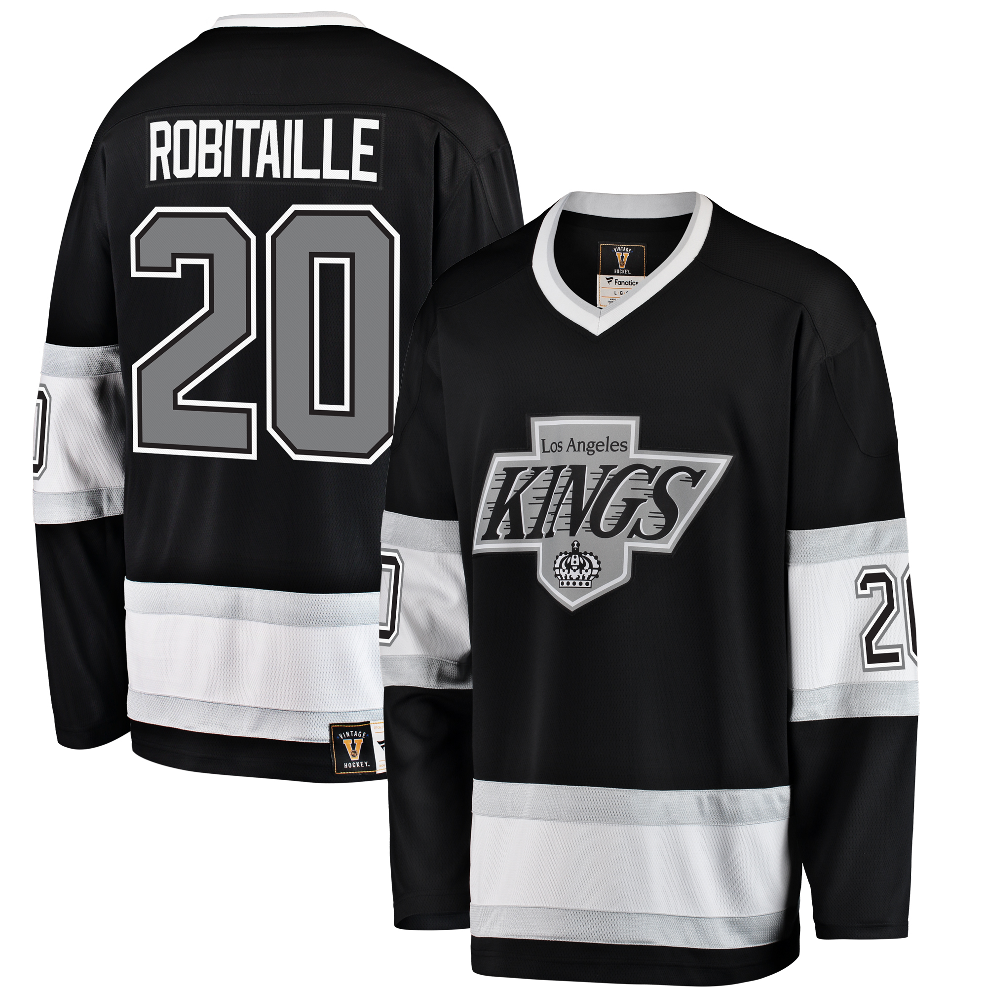 Luc Robitaille Los Angeles Kings Fanatics Branded Premier Breakaway Heritage Player Jersey - Black