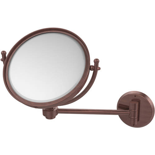 """8"""" Wall-Mounted Make-Up Mirror, 4x Magnification"""