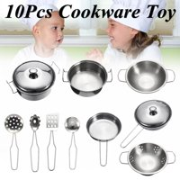 10/19/23pcs kids Cookware Playset Pretend & Play Set Toys Stainless Steel For Children Play House Simulation Kitchen Utensils Earlier Educational