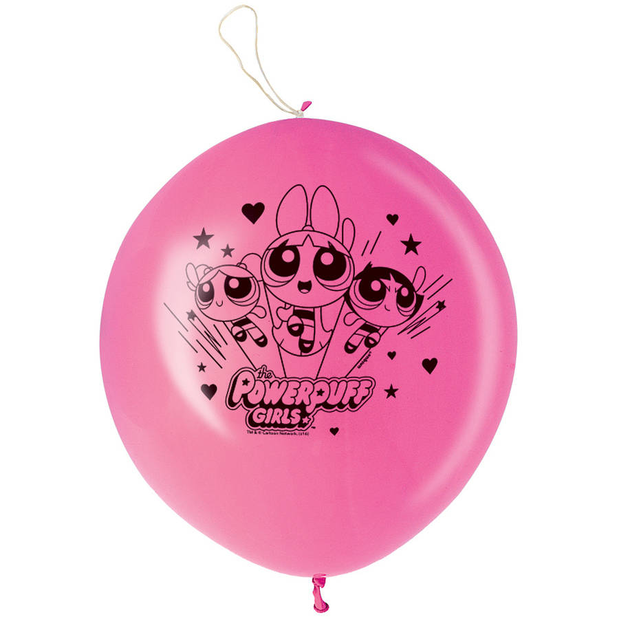 Powerpuff Girls Punch Ball Balloons, 16 in, Pink, 2ct