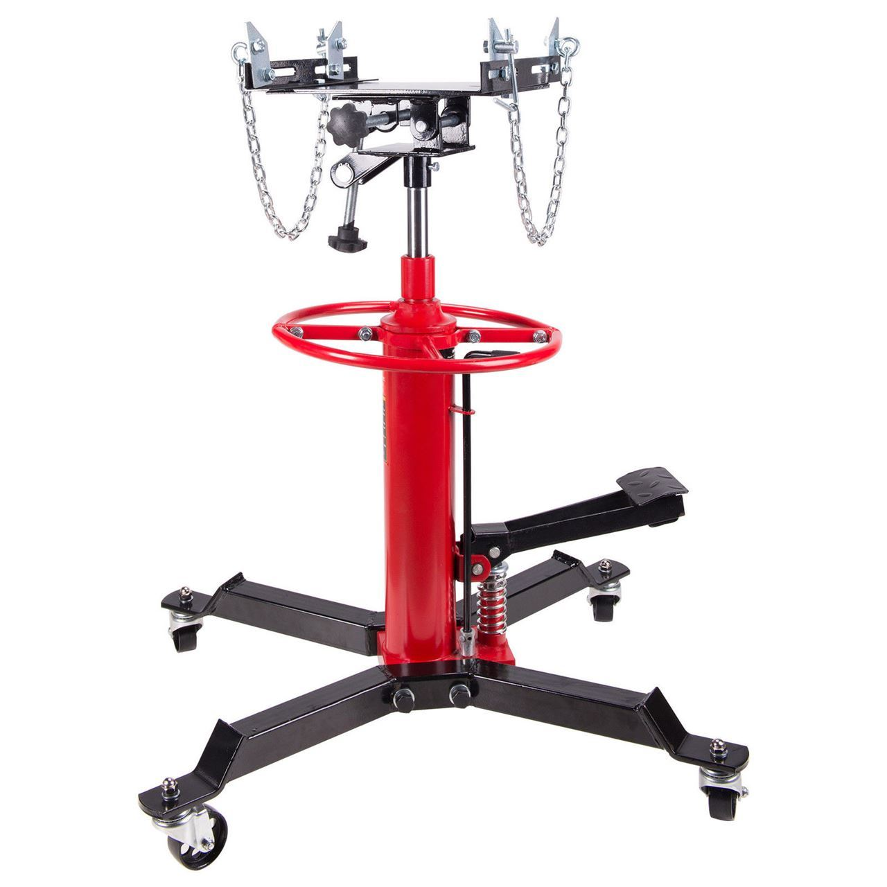 2 Stage Hydraulic Transmission Jack 1100 lbs with 360° Swivel Wheels Lift Hoist