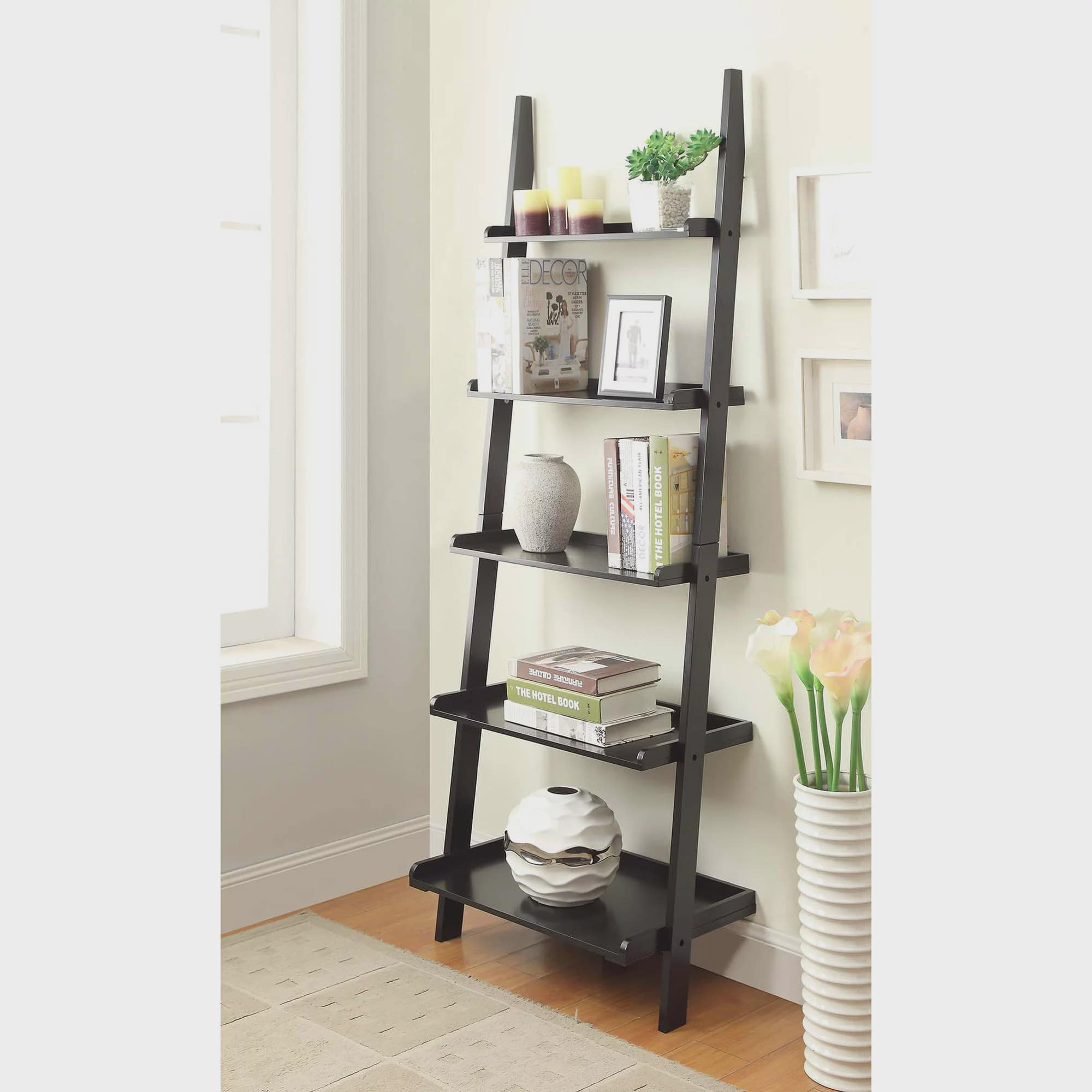 Convenience Concepts American Heritage 5shelf Ladder Bookcase, Multiple  Finishes  Walmart
