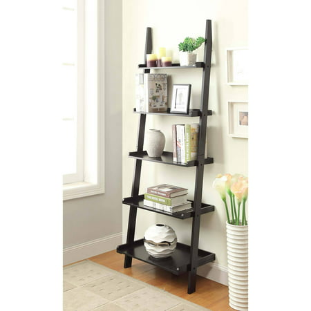 Convenience Concepts American Heritage 5-Shelf Bookshelf Ladder, Multiple - American Spirit Bookcase