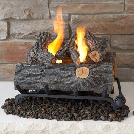 Buy Real Flame 18 in. Convert to Gel Log Insert- Oak at Walmart.com