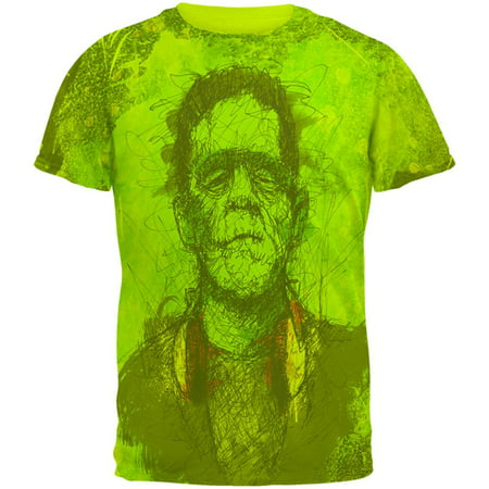 Halloween Frankenstein Raver Horror Movie Monster Mens T Shirt