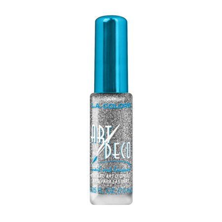 La Colors Art Deco Nail Art Polish Silver Glitter 0 25 Oz