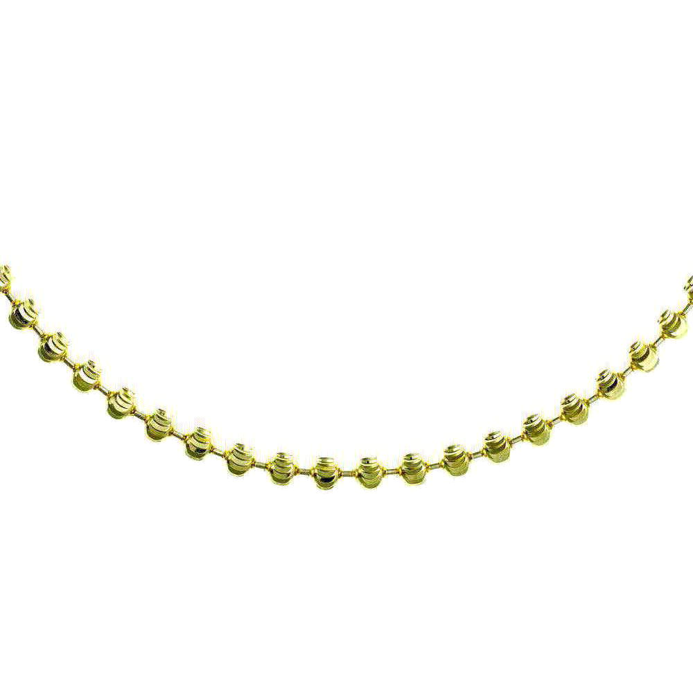 Solid 14K Yellow Gold Mens 2 mm Moon Cut Link Chain 10.71 gram Necklace 34 inches by J&H Jewelers