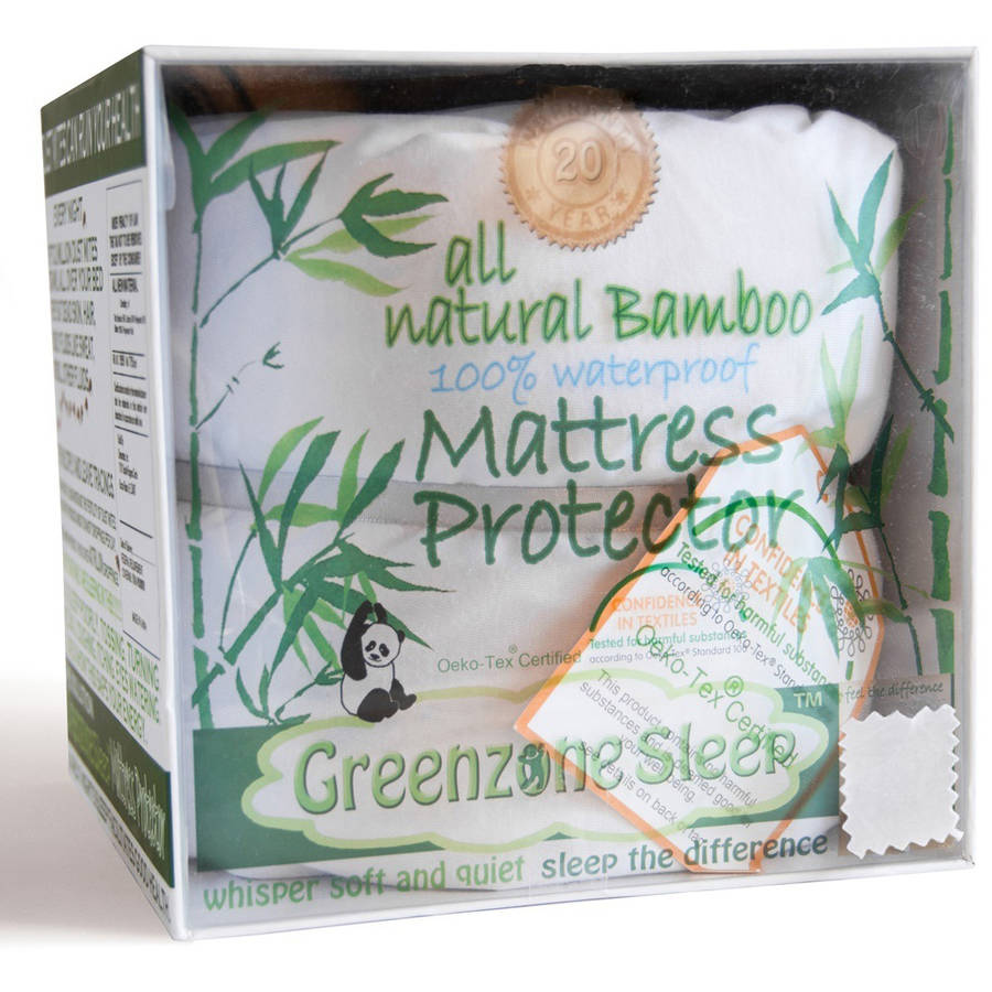 Greenzone Sleep Terry Crib Mattress Protector by Dreamtex Home