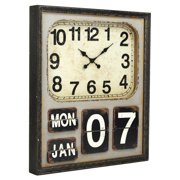 Zentique 35.5 in. Square Wooden Wall Clock