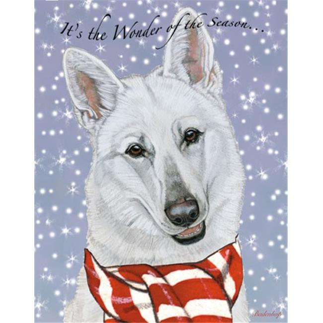 Pipsqueak Productions C700 White Shepherd Christmas Boxed Cards - Pack of 10