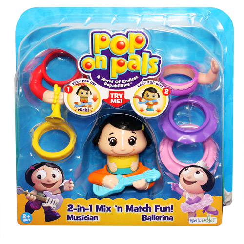 Pop On Pals Figure Musician/Dancer Girl Pack Multi-Colored