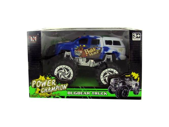Friction Big Wheel Super Power Truck Set of 3 by Kole Imports